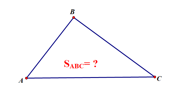 Diện tích tam giác đầy đủ