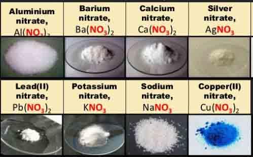 Các loại muối nitrat
