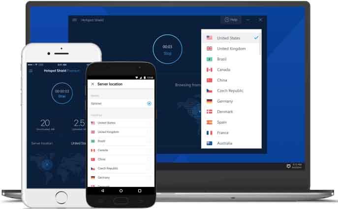 Hotspot Shield - Phần mềm fake ip miễn phí