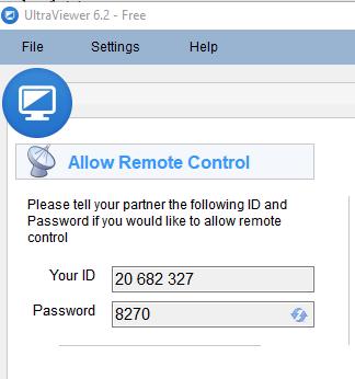 Thông tin ID và Password trên phần mềm Ultraviewer