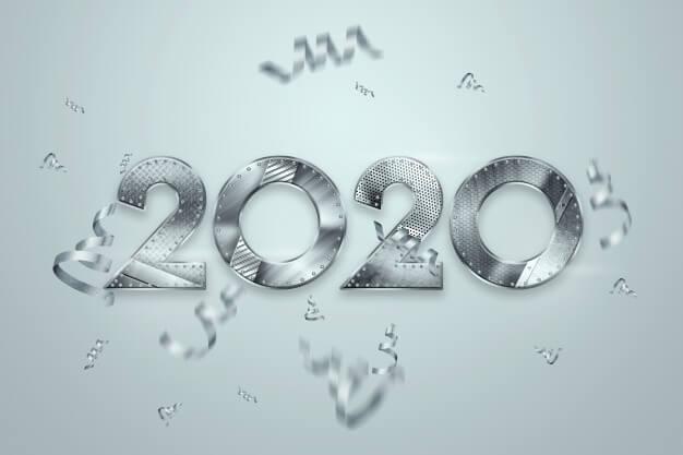 Hình 2020 bằng chữ số phá cách ấn tượng
