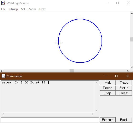 Cách vẽ hình tròn trên công cụ logo
