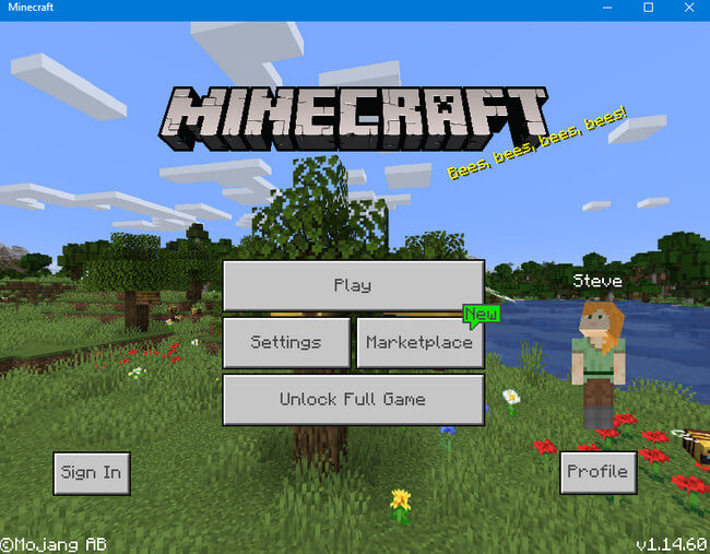 Game pc nhẹ Minecraft
